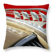 1938 Plymouth Hood Ornament Throw Pillow