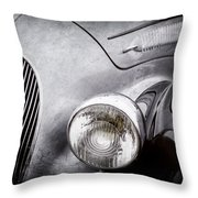 1938 Talbot-lago 150c Ss Figoni And Falaschi Cabriolet Headlight - Emblem -1554ac Throw Pillow