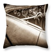 1938 Talbot-lago 150c Ss Figoni And Falaschi Cabriolet Steering Wheel -1561s Throw Pillow