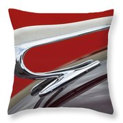 1938 Willys Aftermarket Hood Ornament Throw Pillow