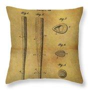 1939 Baseball Bat Patent Throw Pillow
