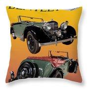 1939 Bentley Drop Head Coupe Throw Pillow