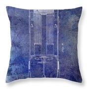 1939 Fire Truck Patent Blue Throw Pillow