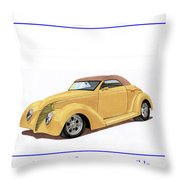 1939 Ford Custom Street-rod Convert Throw Pillow