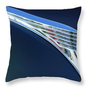 1939 Ford Deluxe Hood Ornament Throw Pillow