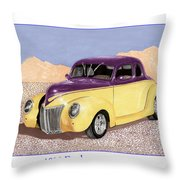 1939 Ford Deluxe Street Rod Throw Pillow