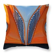1939 Ford Hot Rod Cvt Grille Throw Pillow