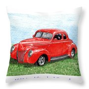 1939 Ford Standard Coupe Throw Pillow