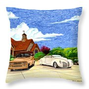 1939 Lincoln Zephyr  Family Home Throw Pillow