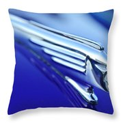 1939 Pontiac Coupe Hood Ornament 4 Throw Pillow