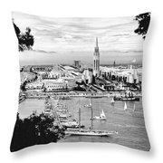 1939 Treasure Island View Throw Pillow