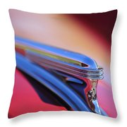 1940 Buick Century Hood Ornament Throw Pillow