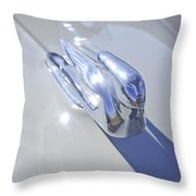 1940 Cadillac Hood Ornament Throw Pillow