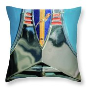 1940 Dodge Business Coupe Emblem Throw Pillow
