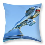 1940 Dodge Business Coupe Hood Ornament Throw Pillow