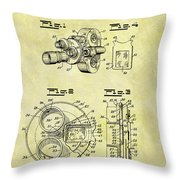 1940 Film Camera Patent Throw Pillow