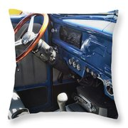 1940 Ford Truck Interior Throw Pillow