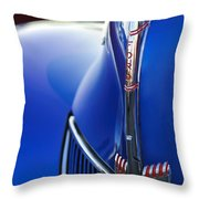 1940 Ford V8 Hood Ornament 3 Throw Pillow