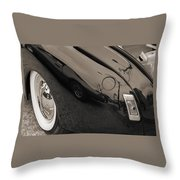 1940 Mercury Convertible Vintage Classic Car Photograph 5218.01 Throw Pillow