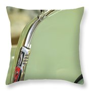 1940 Oldsmobile Hood Ornament 2 Throw Pillow