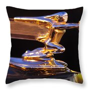 1940 Packard Hood Ornament Throw Pillow