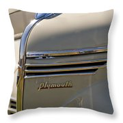1940 Plymouth Hood Ornament 2 Throw Pillow