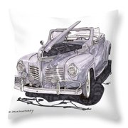 1940 Plymouth P 1 Convertible Throw Pillow