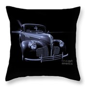 1940 Torpedo Coupe B/w Throw Pillow