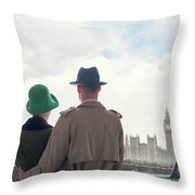 1940s Couple In London  Throw Pillow