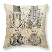 1940s Oil Drill Bit Patent Throw Pillow
