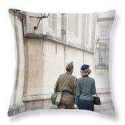 1940s Wartime Couple Throw Pillow