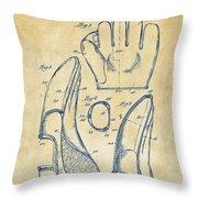 1941 Baseball Glove Patent - Vintage Throw Pillow by Nikki Marie Smith