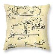 1941 Bulldozer Patent Throw Pillow