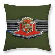 1941 Cadillac 62 Emblem Throw Pillow