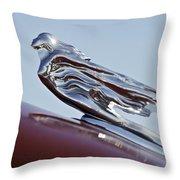 1941 Cadillac Fleetwood 60 Hood Ornament Throw Pillow