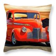 1941 Chevrolet Coupe 'reno Sunrise' Throw Pillow