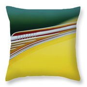 1941 Chevrolet Sedan Hood Ornament Throw Pillow