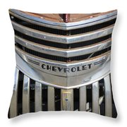 1941 Chevy - Chevrolet Pickup Grille Throw Pillow