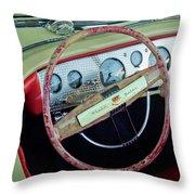 1941 Chrysler Newport Dual Cowl Phaeton Steering Wheel Throw Pillow