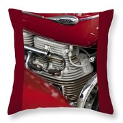 1941 Indian 4 Cyl Motorcycle Throw Pillow