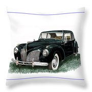 1941 Lincoln Continental Mk 1 Throw Pillow by Jack Pumphrey