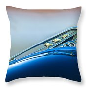 1941 Plymouth Hood Ornament Throw Pillow
