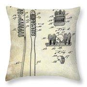 1941 Toothbrush Patent  Throw Pillow