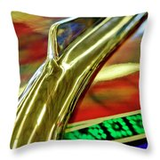1941 Willys Chopped Gasser Pickup Hood Ornament Throw Pillow