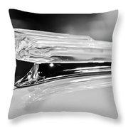 1942 Chevrolet Fleetline Hood Ornament 2 Throw Pillow