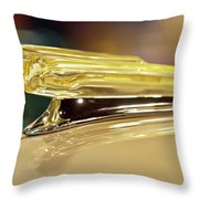 1942 Chevrolet Fleetline Hood Ornament Throw Pillow