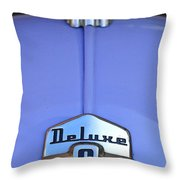 1942 Ford Hood Ornament Throw Pillow by Jill Reger