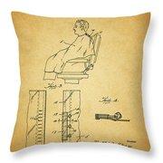 1943 Barber Apron Patent Throw Pillow