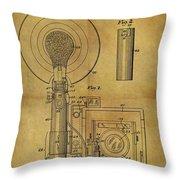 1943 Camera Flash Patent Throw Pillow