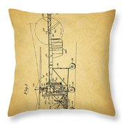 1943 Helicopter Patent Throw Pillow